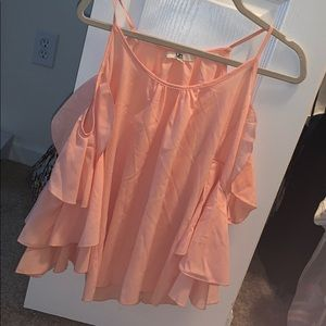 Peach Colored Flowy Top